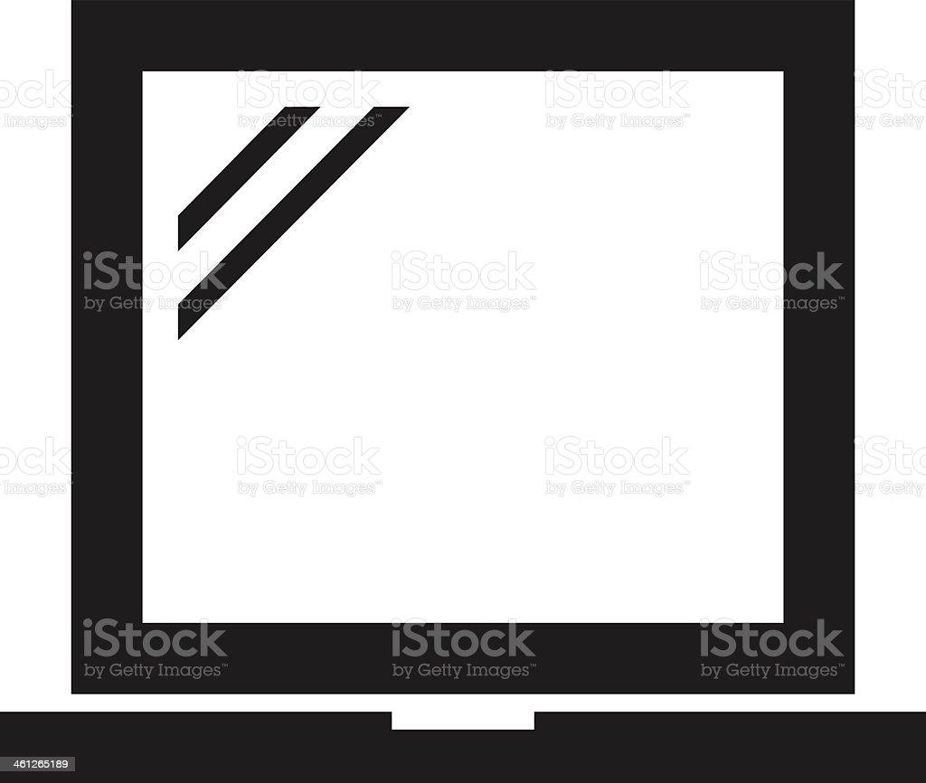 Laptop icon royalty-free stock vector art