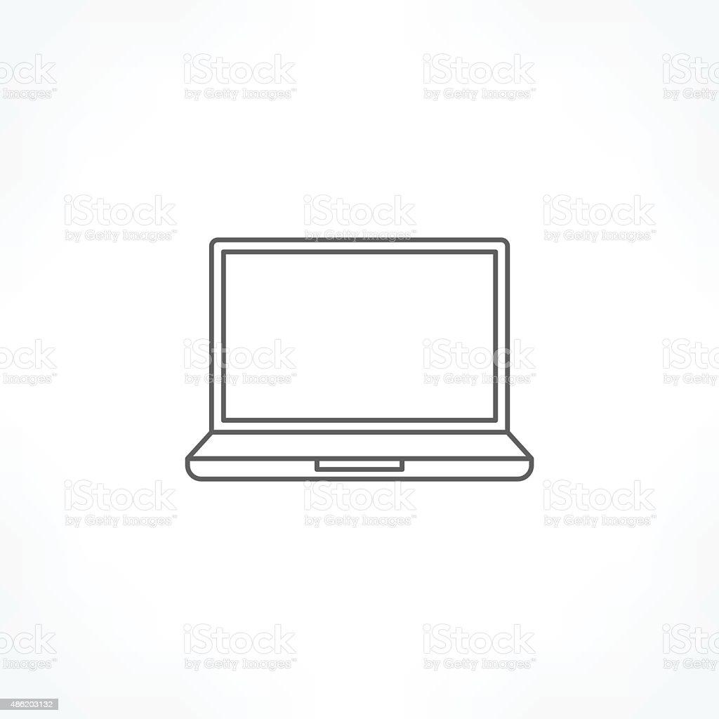 laptop icon vector art illustration