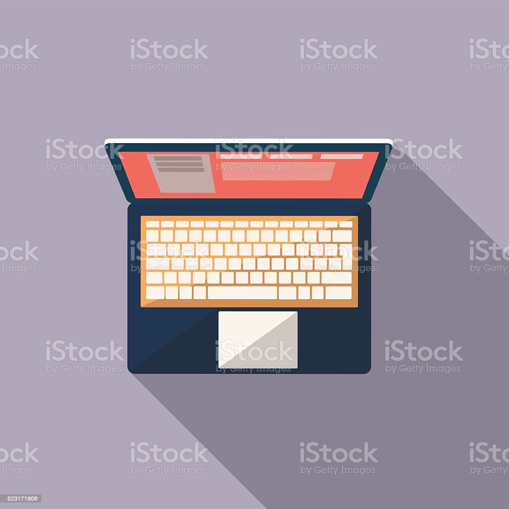 laptop icon vector art illustration