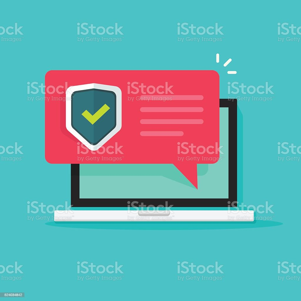 laptop internet security concept vector illustration isolated vector art illustration