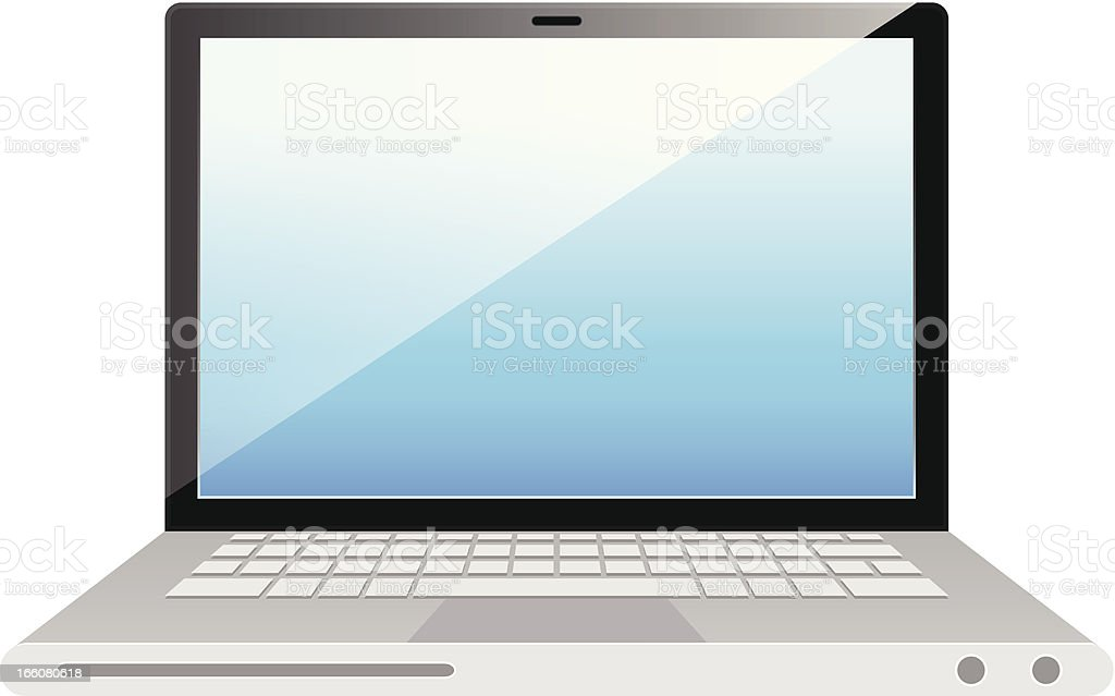 Laptop isolated on white background royalty-free stock vector art