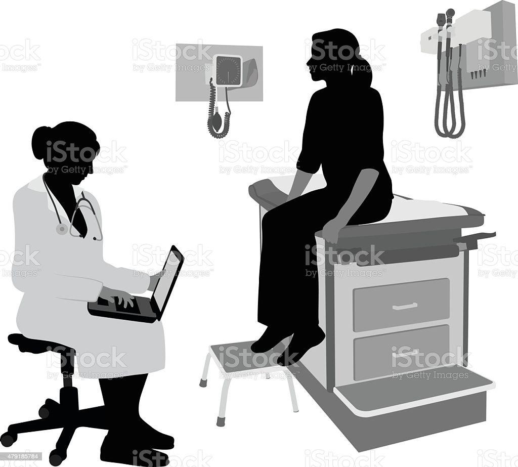 Laptop Medical Notes vector art illustration
