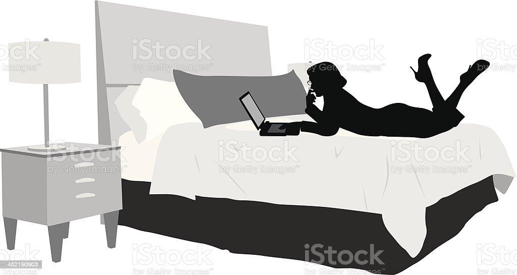 Laptop Reading royalty-free stock vector art