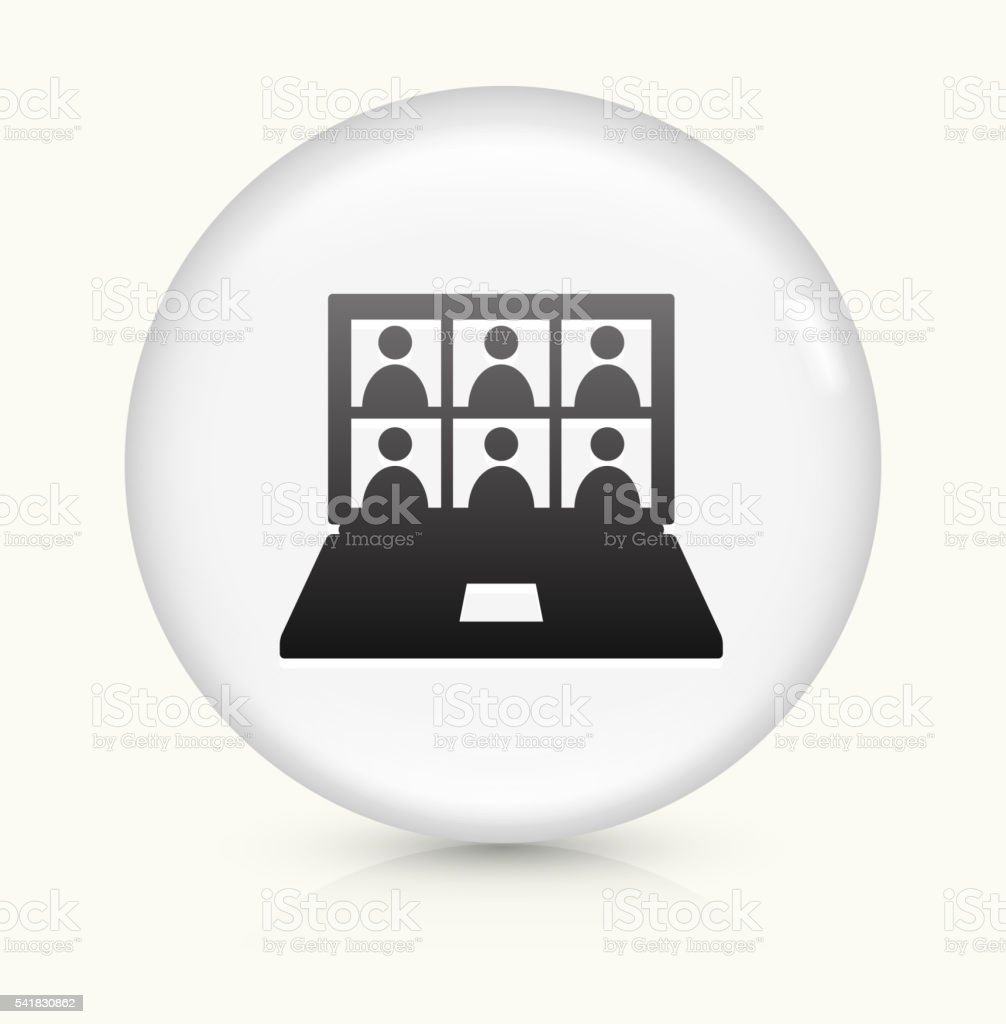Laptop Screen and Candidates icon on white round vector button vector art illustration