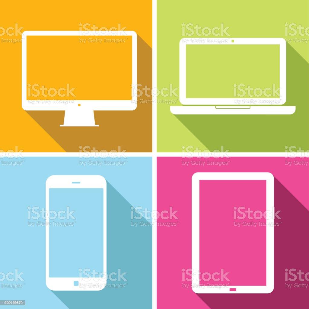 Laptop, Tablet, Mobile Phone, Computer - Illustration vector art illustration