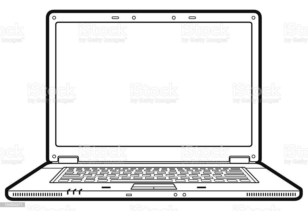 laptop vector art illustration