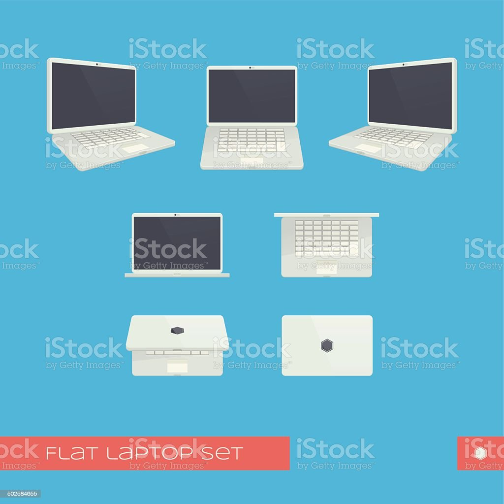 Laptop vector art illustration