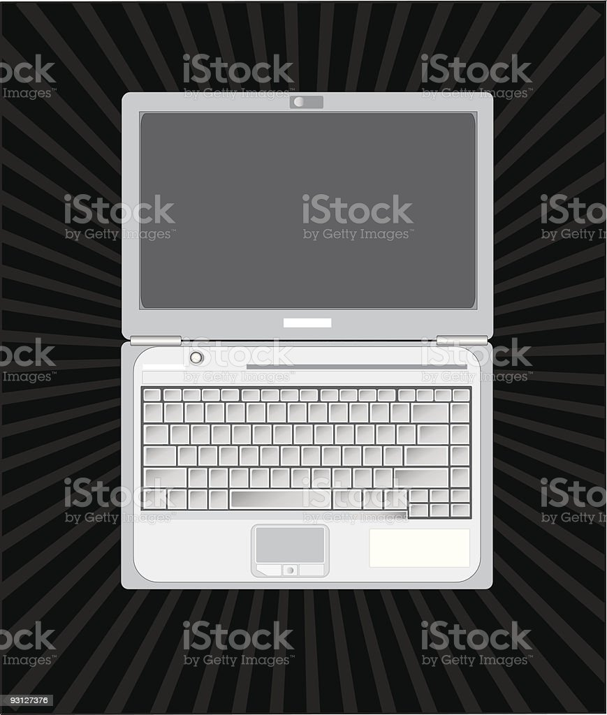 Laptop royalty-free stock vector art