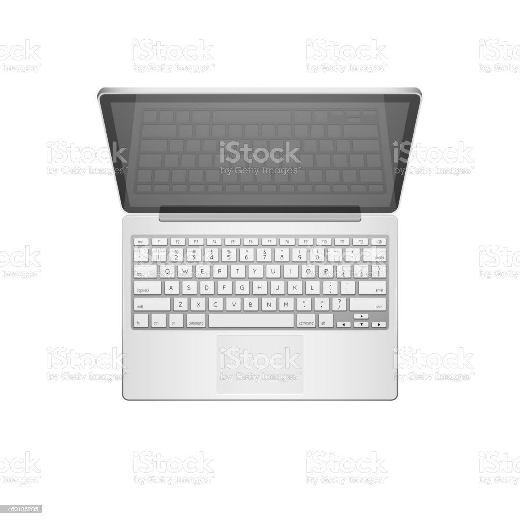 Laptop Vector Illustration vector art illustration