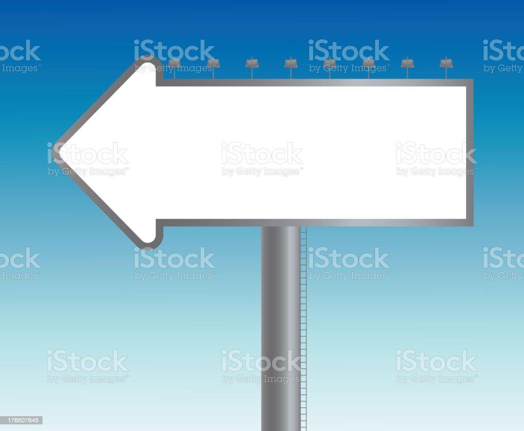 Large blank billboard ,arrow shape royalty-free stock vector art