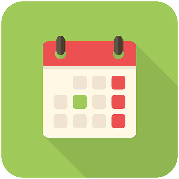Blank Calendar Icon Green : Calendar clip art vector images illustrations istock