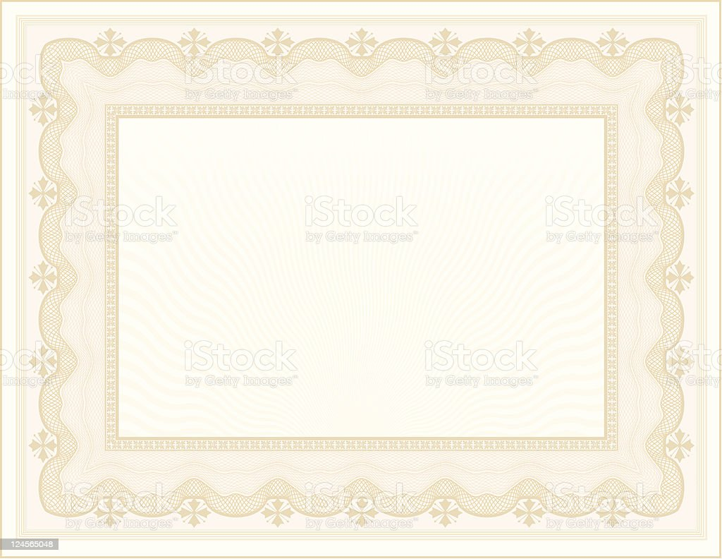 Large Certificate - Diploma vector art illustration