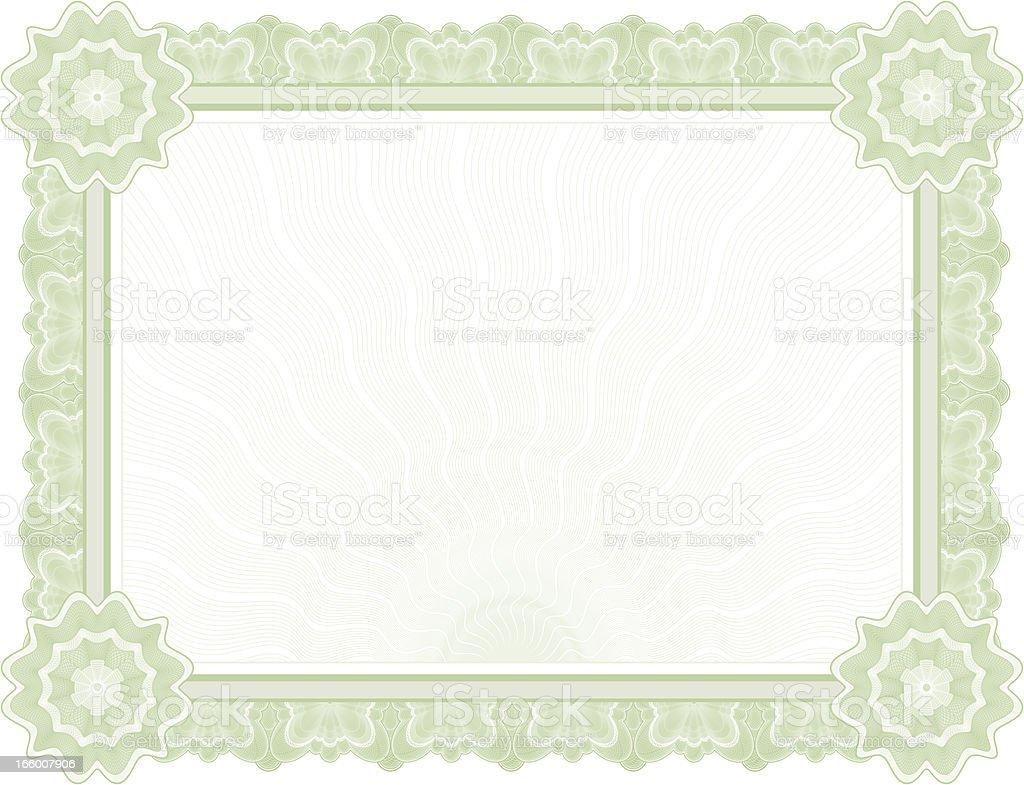 Large Certificate - Diploma (GREEN VARIANT) vector art illustration