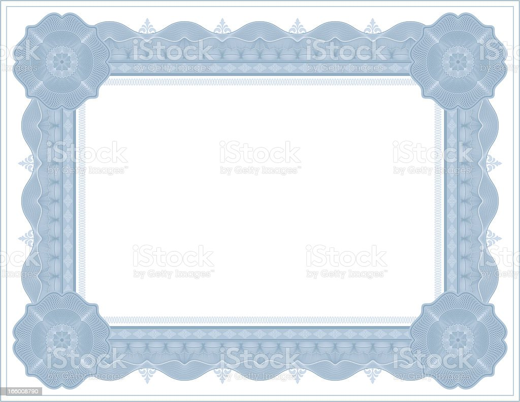 Large Certificate - Diploma (BLUE VARIANT) vector art illustration