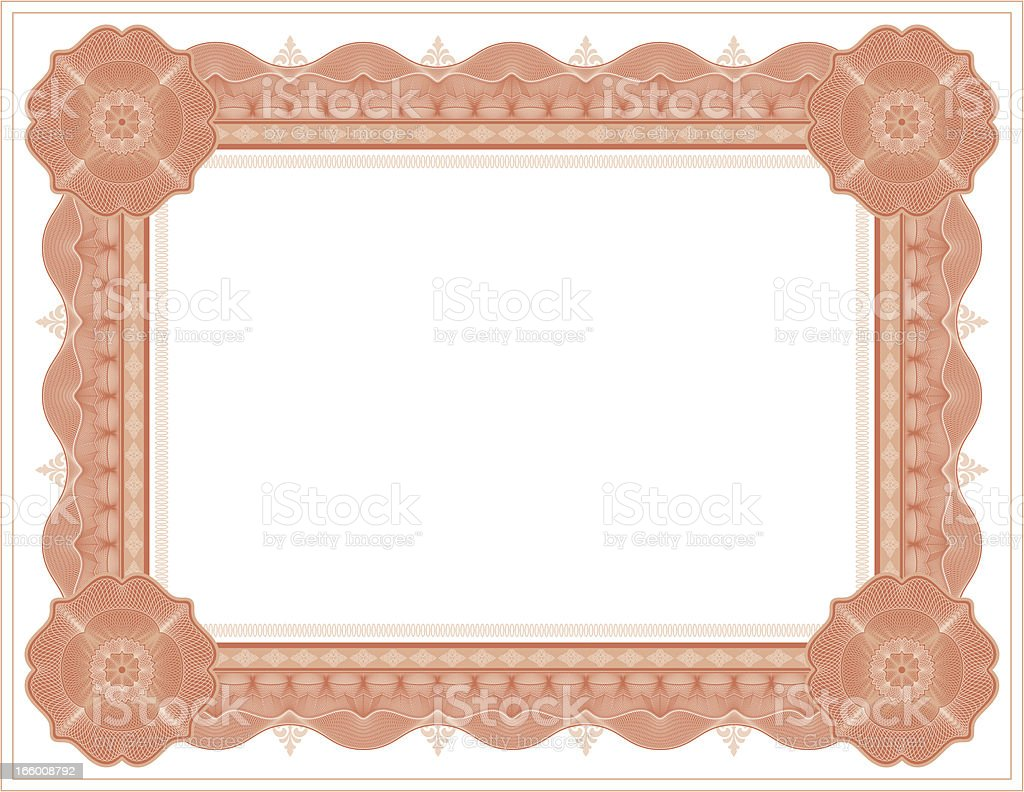 Large Certificate - Diploma (RED VARIANT) vector art illustration