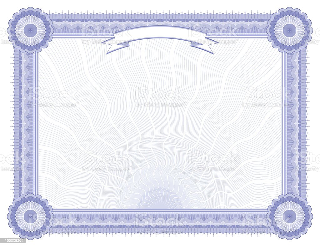 Large Certificate - Diploma (BLUE VARIANT) royalty-free stock vector art