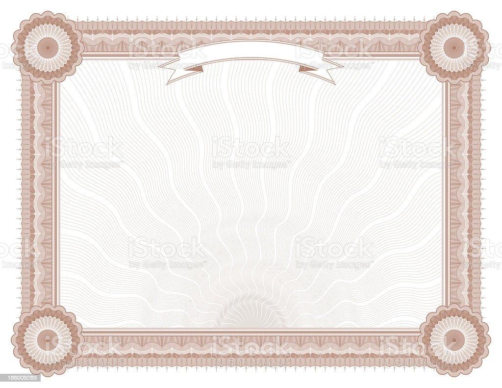 Large Certificate - Diploma (RUST VARIANT) vector art illustration