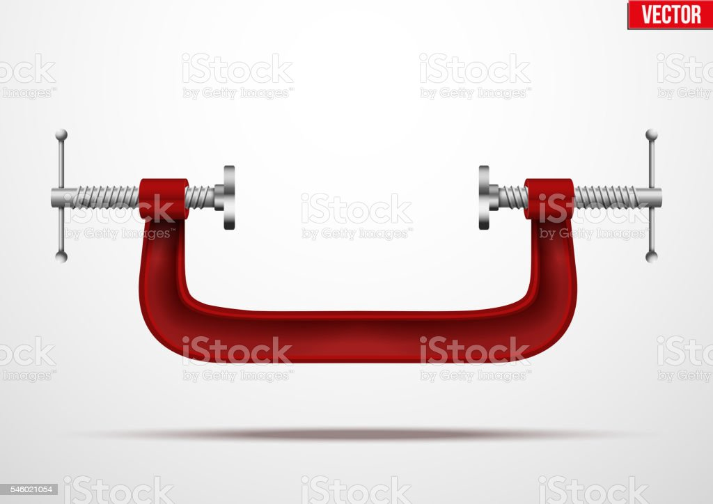 Large clamp compression tool. vector art illustration