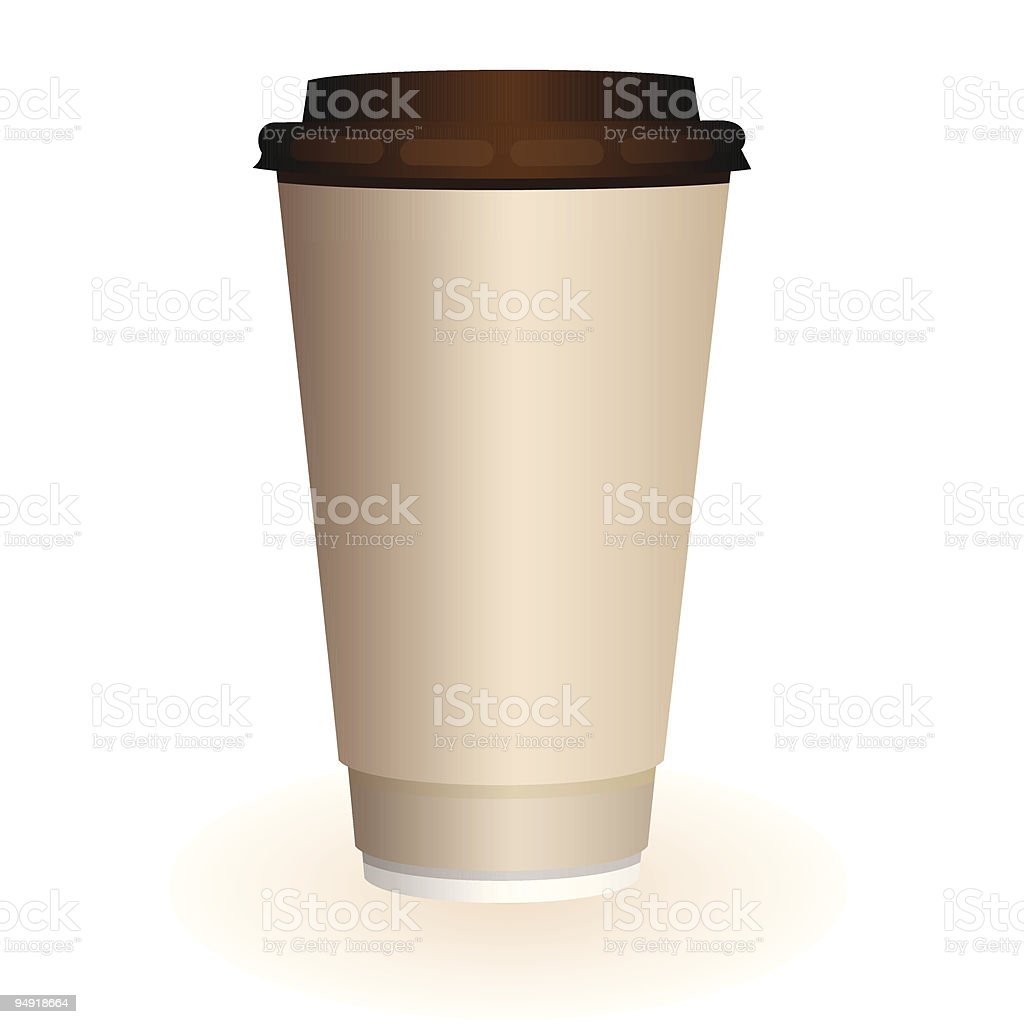 large coffee cup royalty-free stock vector art