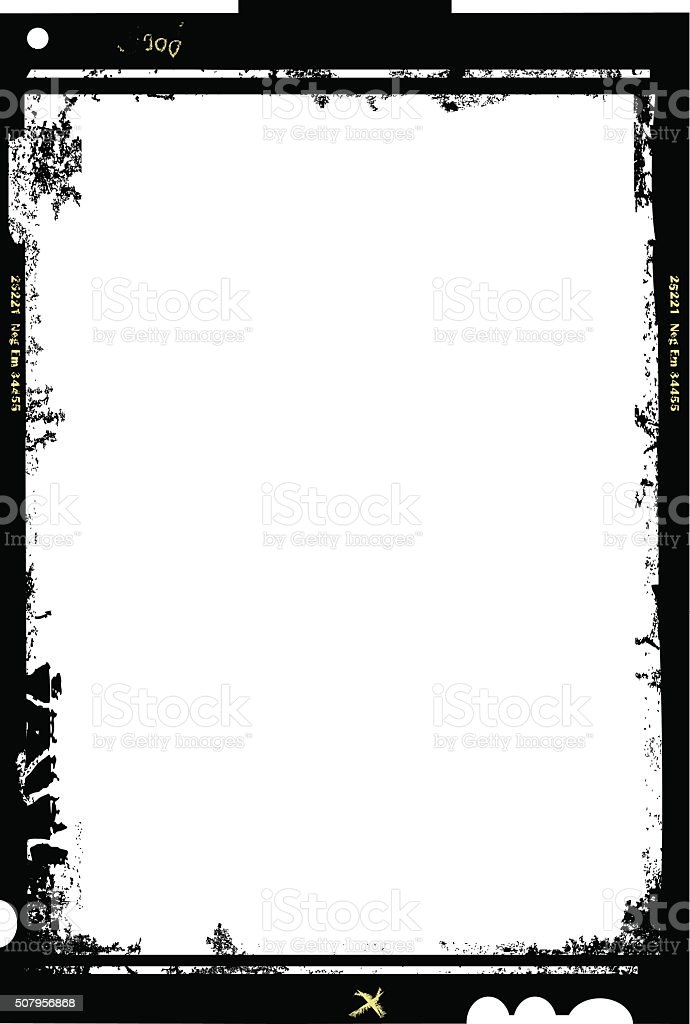 large format film sheet vector art illustration