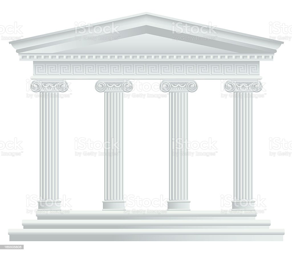 Large Greek/Roman Temple vector art illustration