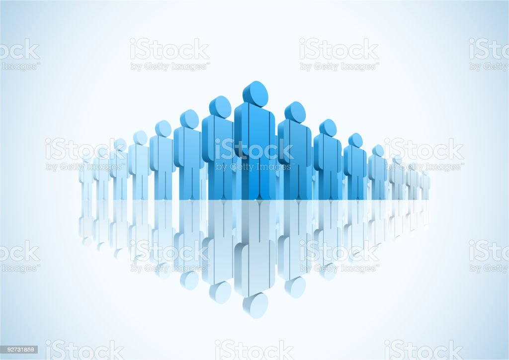 Large group of people. vector art illustration