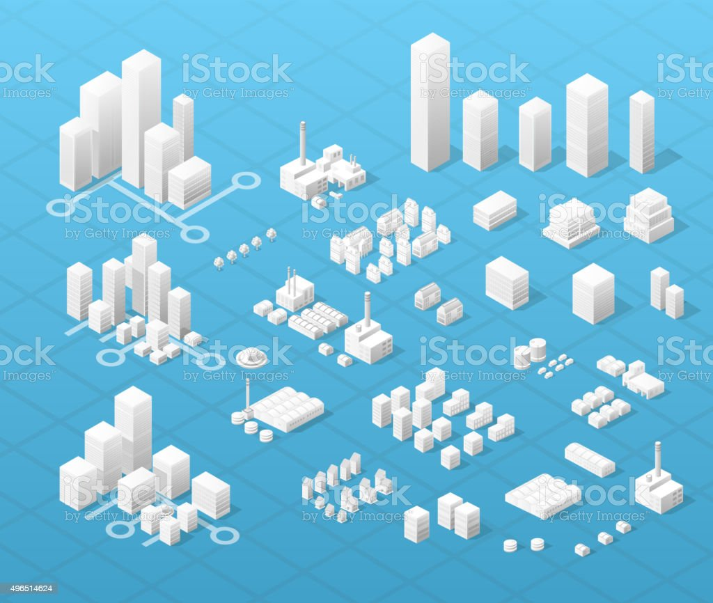 Large modern city vector art illustration
