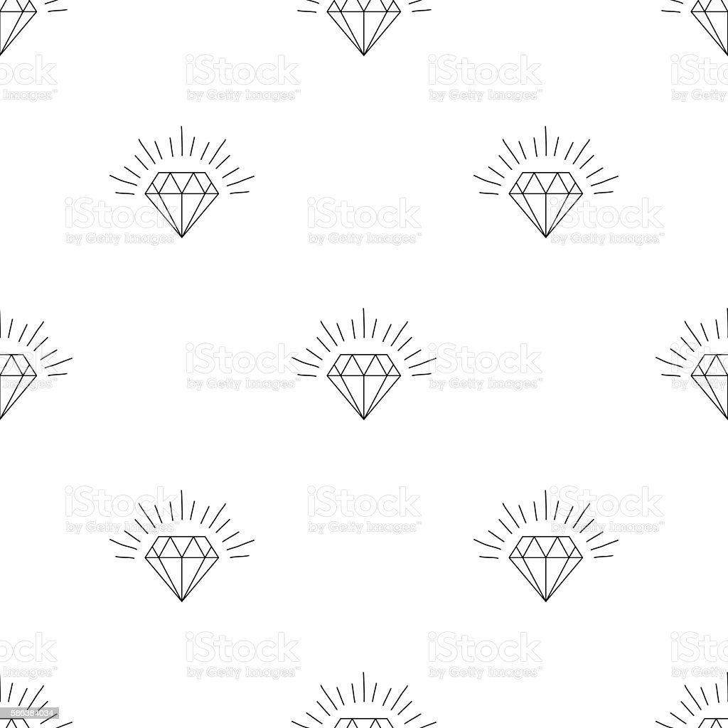 Large number of versions of a diamond vector art illustration