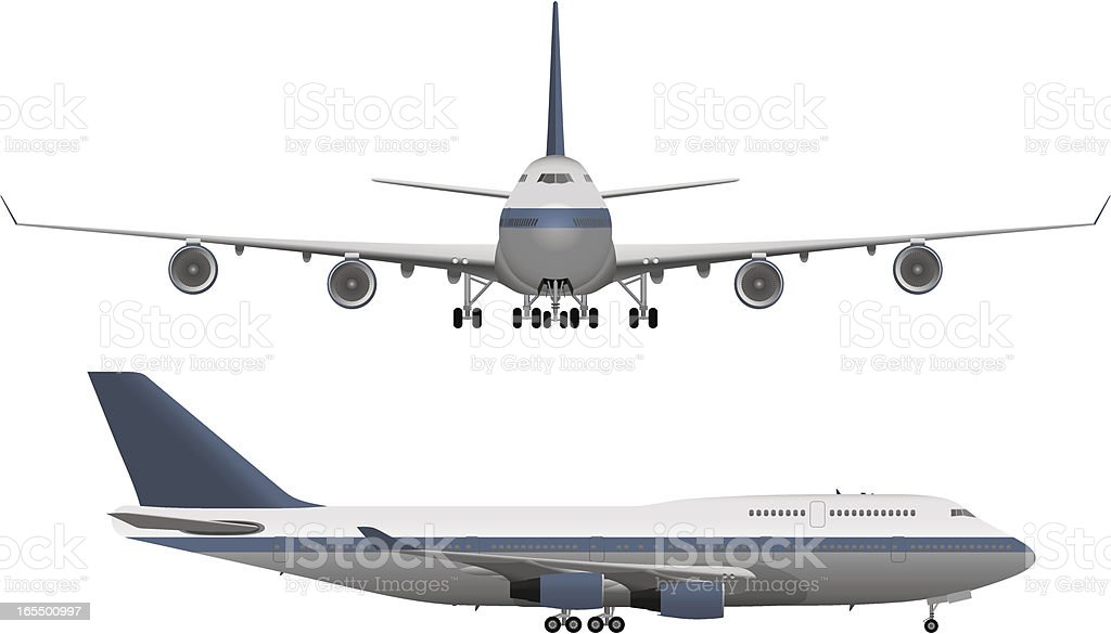 Large Passenger Airplane vector art illustration