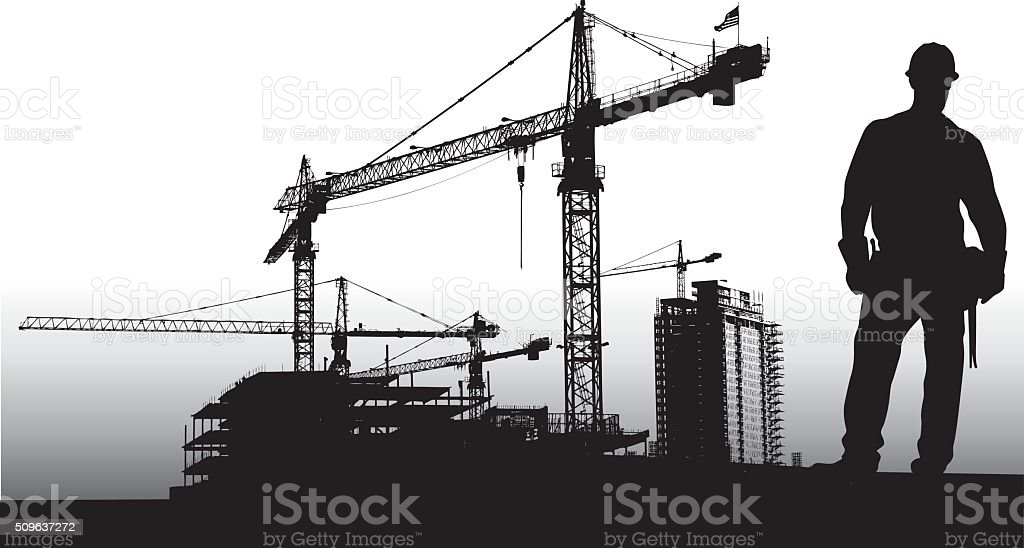 Large Scale Construction vector art illustration