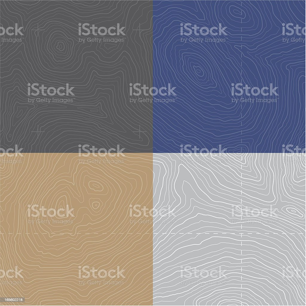 Large Seamless Topographic Map vector art illustration