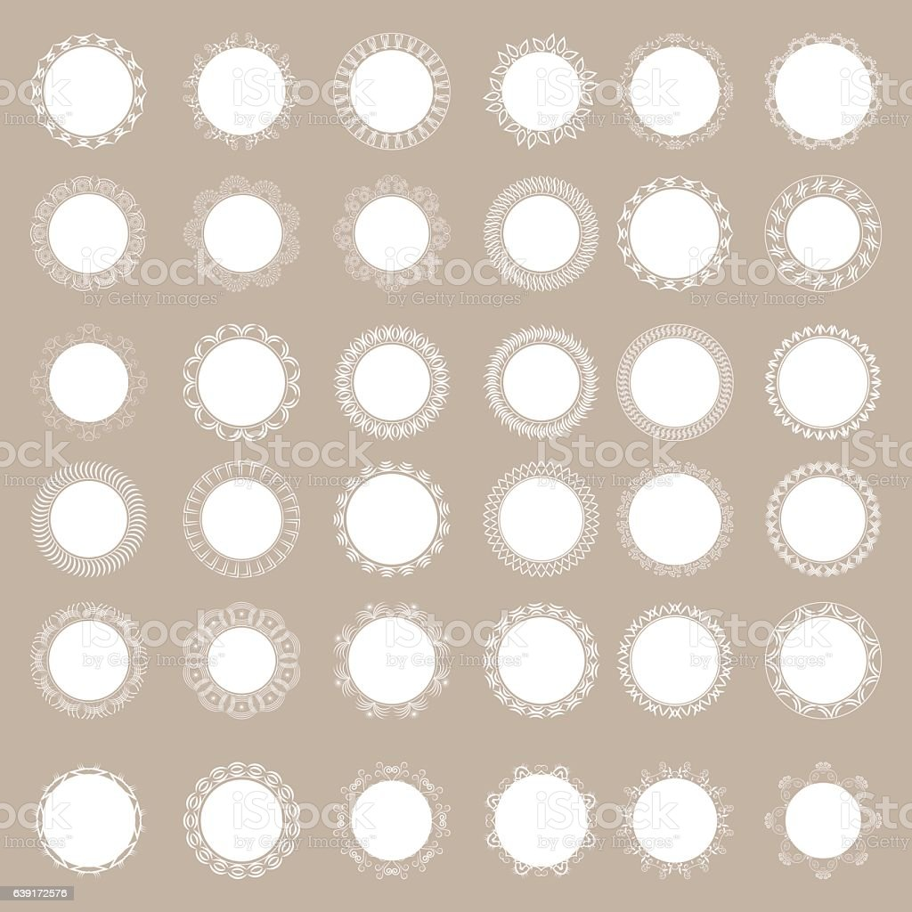 large set of lacy napkins. vector art illustration