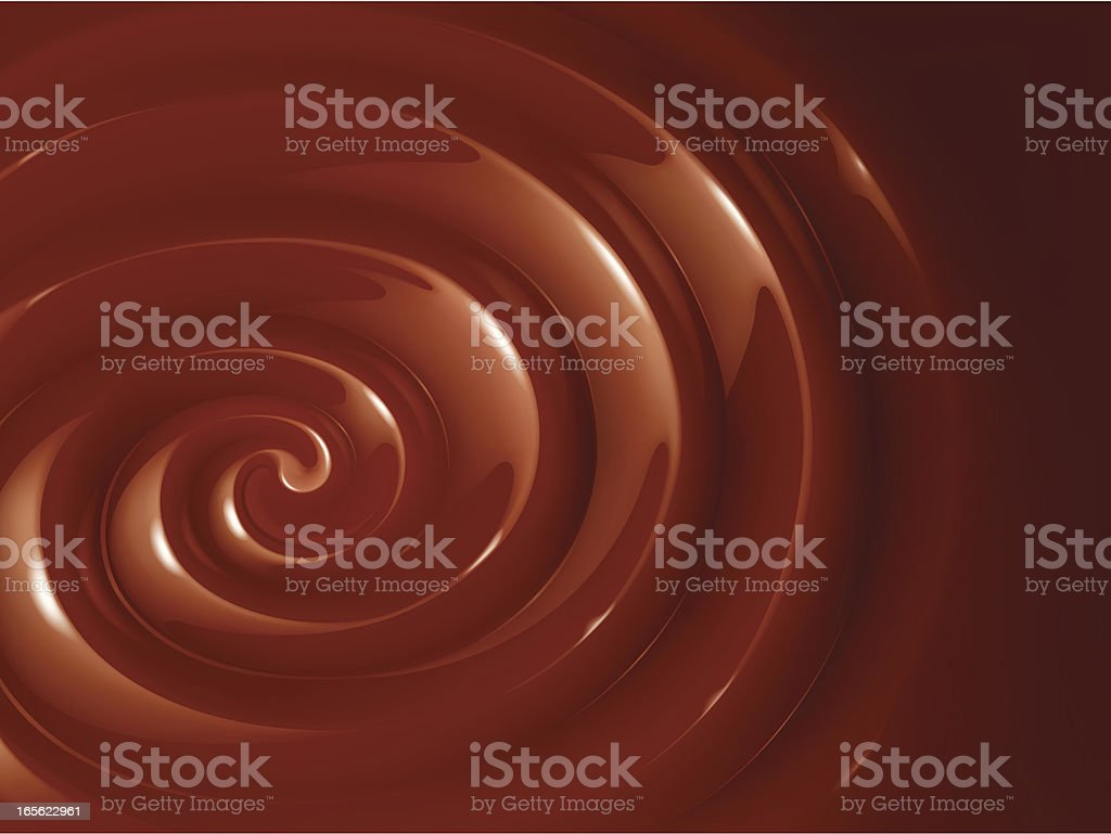 Large swirl of chocolate fondue royalty-free stock vector art
