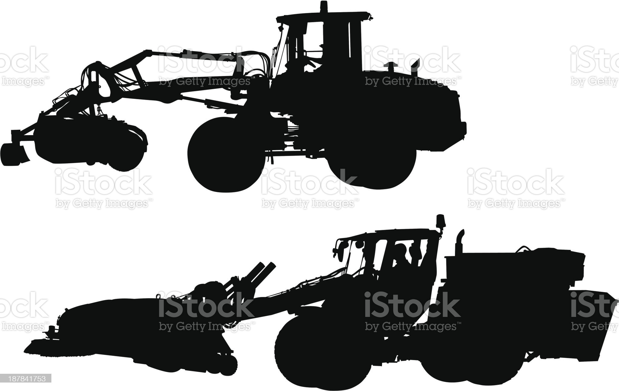 Large tractors royalty-free stock vector art
