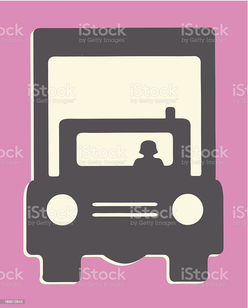 Large Truck royalty-free stock vector art