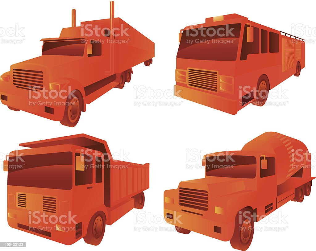 large vehicles royalty-free stock vector art