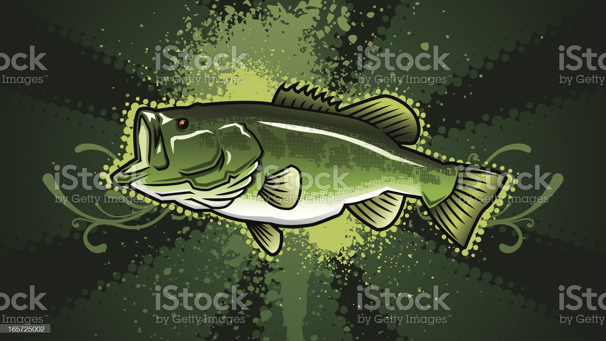 Largemouth Bass Design royalty-free stock vector art