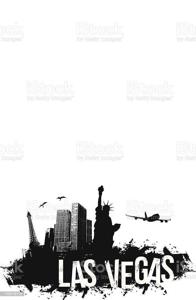 Las Vegas city Banner vector art illustration