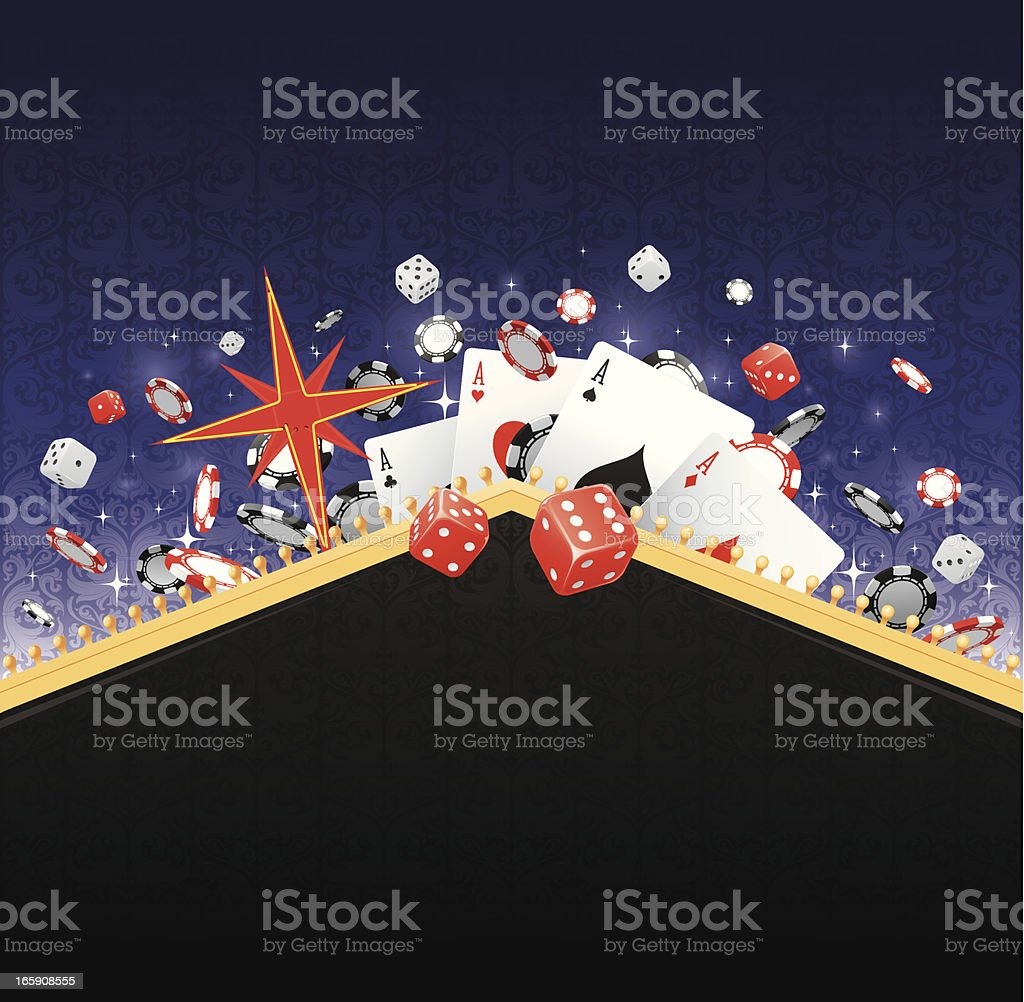 Las Vegas gambling background vector art illustration