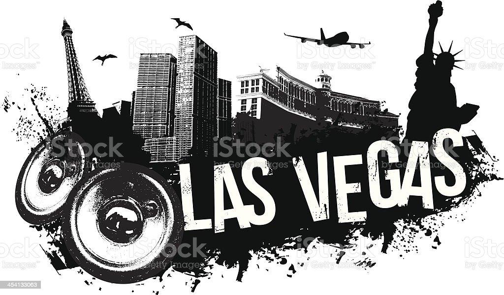 Las Vegas Music Banner vector art illustration