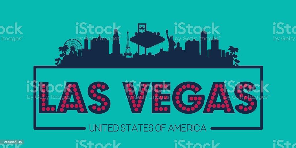 Las Vegas Nevada USA skyline vector art illustration