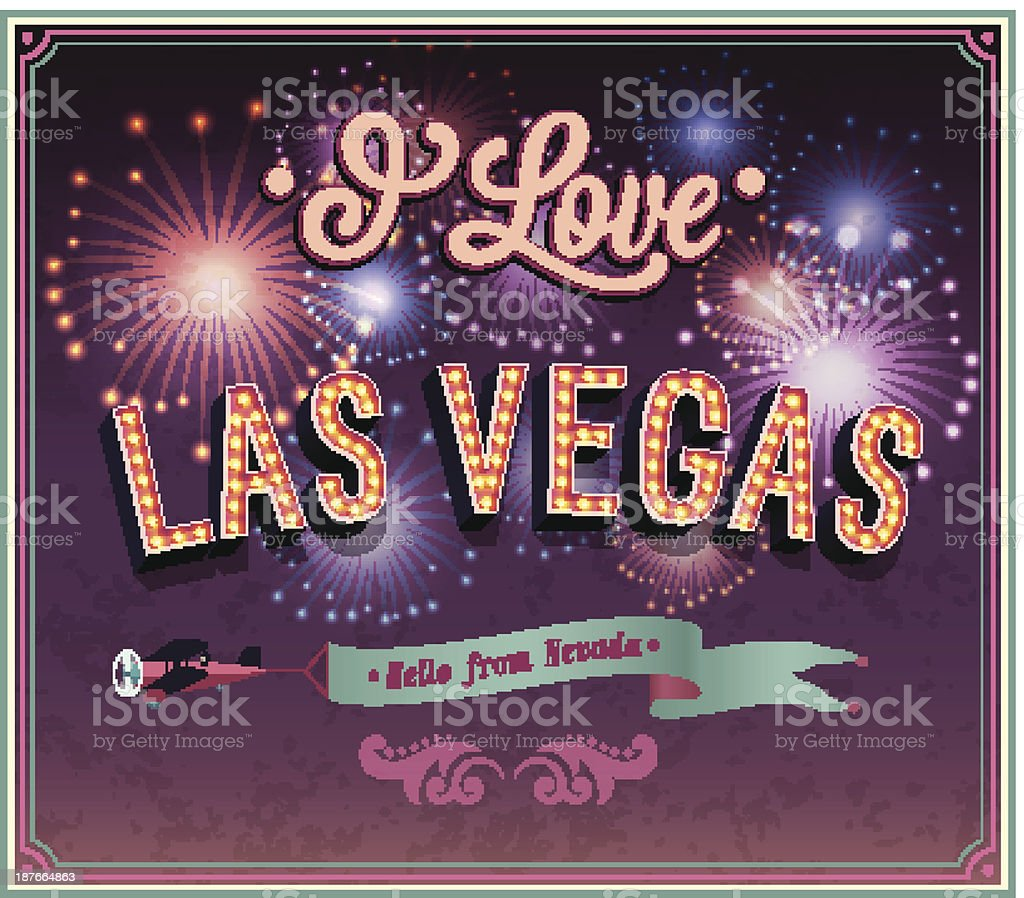 Las Vegas - Nevada. royalty-free stock vector art