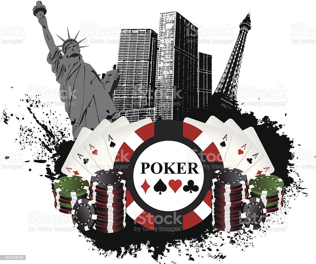 Las Vegas Poker royalty-free stock vector art