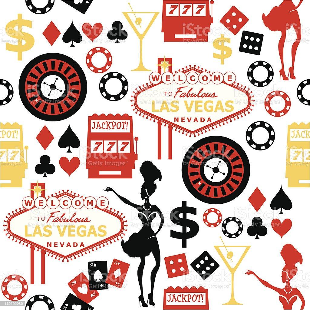 Las Vegas Seamless Pattern vector art illustration