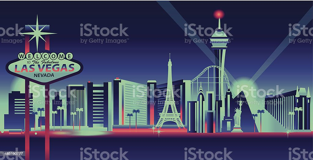 Las Vegas Skyline vector art illustration