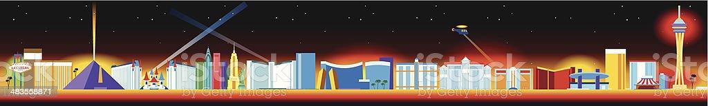 Las Vegas Strip vector art illustration