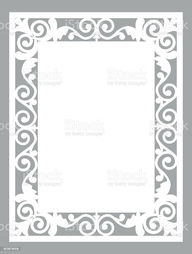 laser cut card vector art illustration