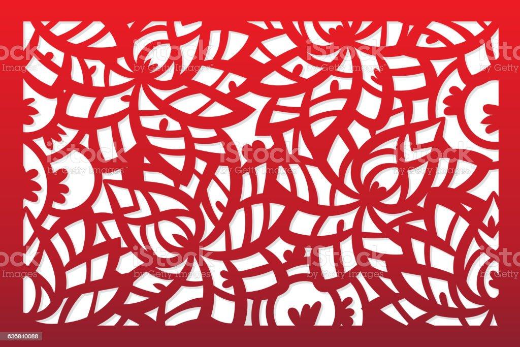 Laser cut vector template vector art illustration