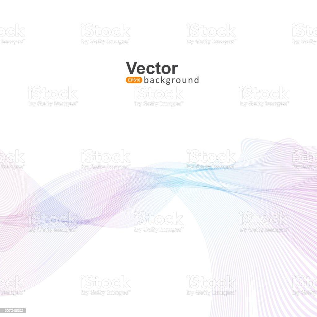 Laser light waves for the company's business presentation vector art illustration