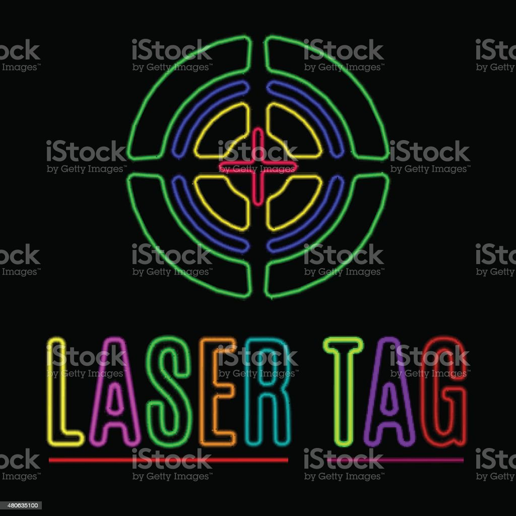 laser tag vector art illustration